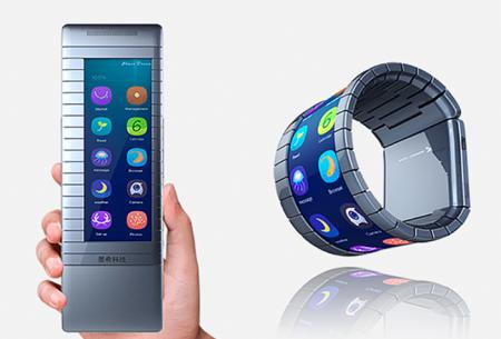 До конца года Moxi выпустит смартфон, обвивающий запястье