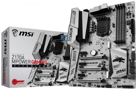 Рассекречена плата MSI Z170A MPower Gaming Titanium для игровых ПК