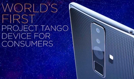 Смартфон Lenovo Project Tango получит экран формата 2К