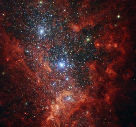 Фото дня: галактика со вспышкой звёздообразования