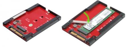 Адаптер Addonics AD25M2U.2 позволит с пользой применить разъём U.2