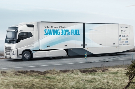 Концепт-грузовик Volvo позволит сократить расхода топлива на треть