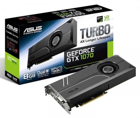 ASUS выпустила видеокарту Turbo GeForce GTX 1070