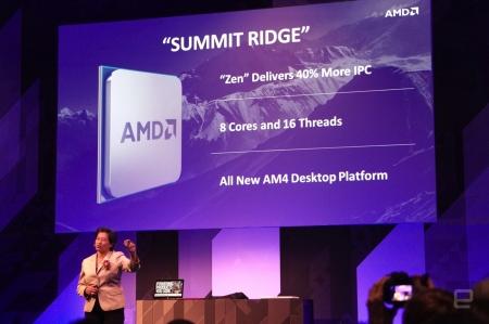 Computex 2016: AMD выпустит 8-ядерные CPU Summit Ridge в этом году