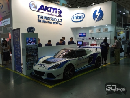 Computex 2016: первое 4-дисковое хранилище с портом Thunderbolt 3 на стенде Akitio