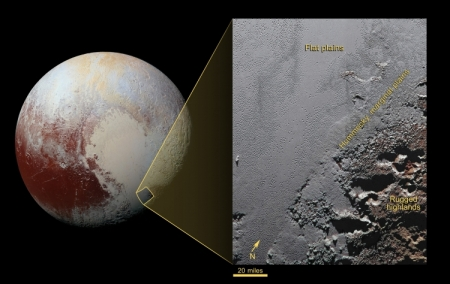 Фото дня: горная местность на Плутоне в высоком разрешении
