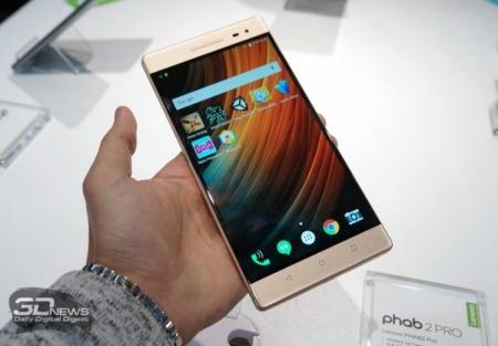 Lenovo PHAB2 Pro — планшетофон с поддержкой технологии Project Tangо