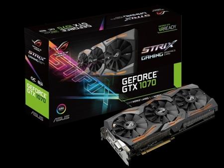 Ускоритель ASUS ROG Strix GeForce GTX 1070 получил подсветку Aura RGB