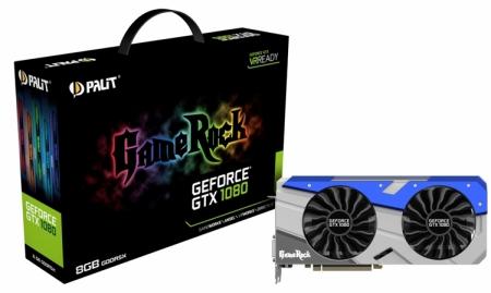Palit снабдила RGB-подсветкой видеокарту GeForce GTX 1080 GameRock
