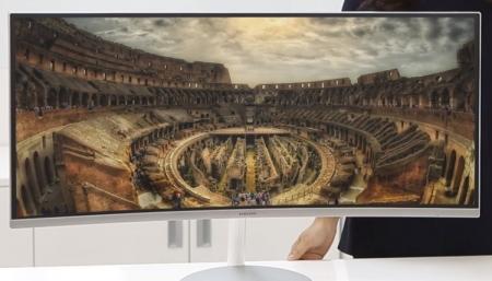 Изогнутый игровой монитор Samsung CF791 имеет диагональ 34 дюйма
