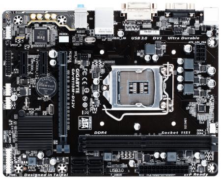Плата GIGABYTE GA-H110M-DS2V поддерживает DDR4