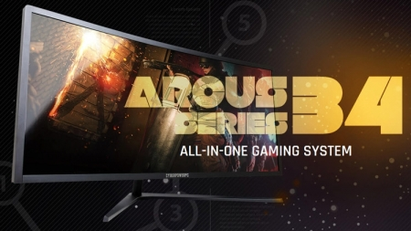 CyberPowerPC совместила изогнутый монитор и игровой ПК в моноблоке Arcus 34