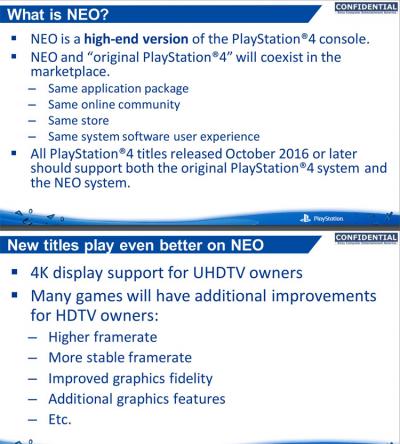 Sony PlayStation 4 Neo: подробности об улучшенной консоли