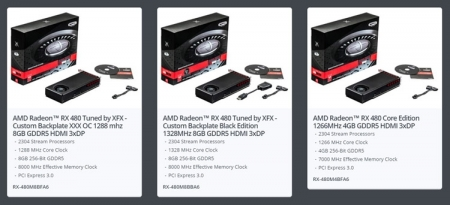 XFX представила три видеокарты Radeon RX 480, включая модель Black Edition