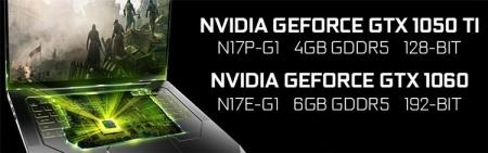 NVIDIA выпустит мобильные видеокарты GeForce GTX 1060 и GTX 1050 Ti
