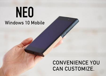 NuAns Neo: Windows-смартфон с необычным дизайном выйдет на мировой рынок