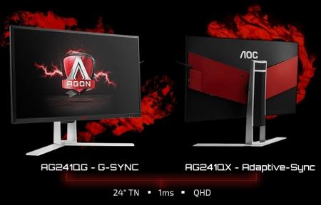 Новые игровые мониторы AOC Agon обладают разрешением 2560×1440 точек