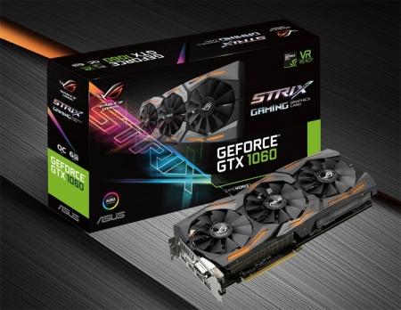 Частота ядра видеокарт ASUS GeForce GTX 1060 достигает 1873 МГц