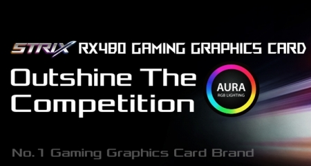 ASUS ROG Strix RX 480: видеокарта с разгоном и подсветкой Aura RGB