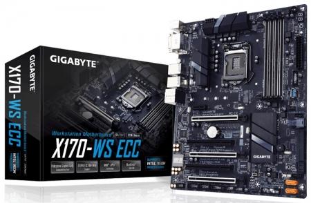 Универсальная плата Gigabyte GA-X170-WS ECC поддерживает CPU Xeon E3