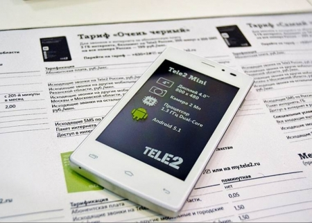 Первый брендированный смартфон Tele2 вошёл в Топ-10 в России