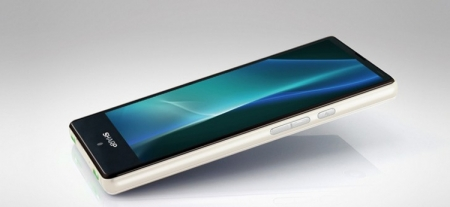 Смартфон Sharp Aquos Mini SH-M03 реагирует на сжатие