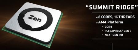 AMD поведала подробности о процессорах семейства Summit Ridge