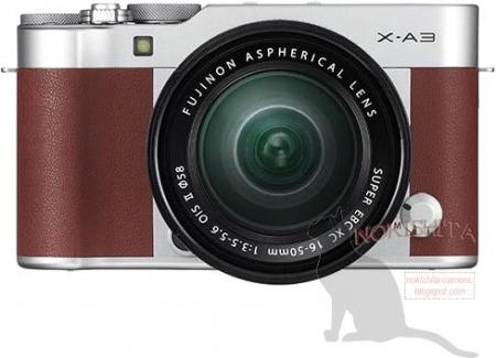 Изображения системной камеры Fujifilm X-A3 в ретро-стиле