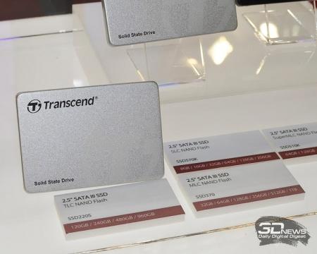 Семейство накопителей Transcend SSD220 возглавило устройство объёмом 960 Гбайт
