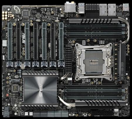 Плата ASUS X99-E-10G-WS имеет два порта 10GBASE-T