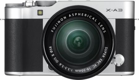 Fujifilm представила системную камеру X-A3 с новой матрицей и сенсорным дисплеем