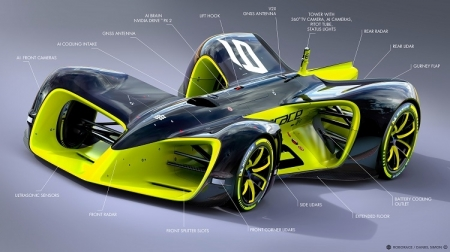 Появилось изображение первого в мире гоночного робомобиля