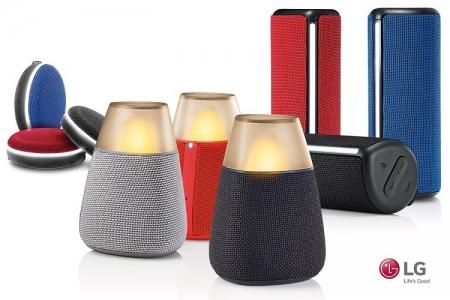 LG представила Bluetooth-динамики с 360-градусным звуком