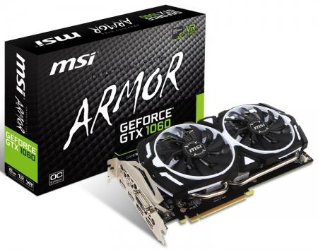 Состоялся релиз видеокарты MSI GeForce GTX 1060 Armor 6G OCV1