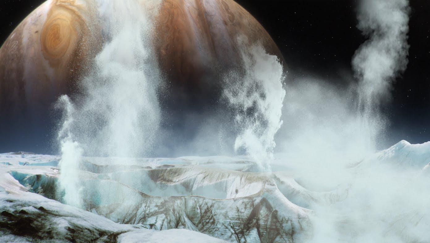 «Хаббл», возможно, обнаружил гейзеры на Европе — спутнике Юпитера