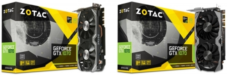ZOTAC выпустила две модели GeForce GTX 1070 Mini