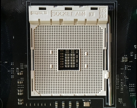 Фото дня: процессор AMD Zen CPU и контактная площадка AM4