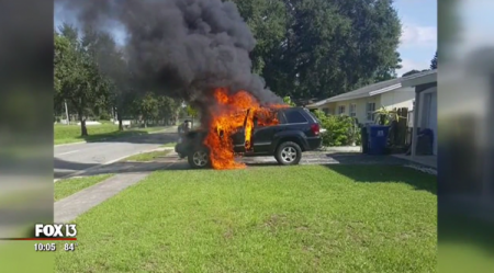 Galaxy Note 7 не признан виновным в возгорании авто