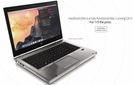 HacBook Elite: ноутбук на базе macOS с возможностью апгрейда