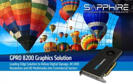 Видеоадаптер Sapphire GPRO 8200 оснащён четырьмя DisplayPort 1.4