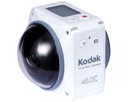 Экшен-камера Kodak Pixpro 4KVR360 поддерживает сферическую видеосъёмку