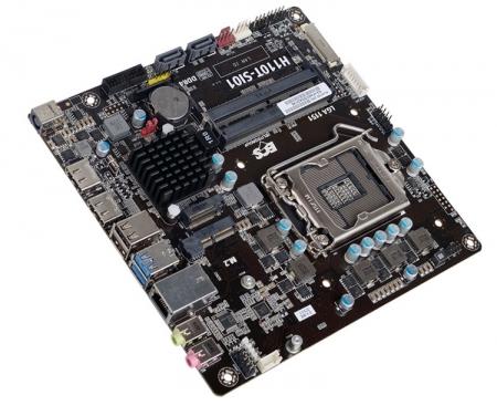 Плата ECS H110T-SI01 рассчитана на компактные компьютеры с чипом Intel Skylake
