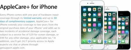 Программа AppleCare+ теперь предусматривает замену экрана iPhone за $29
