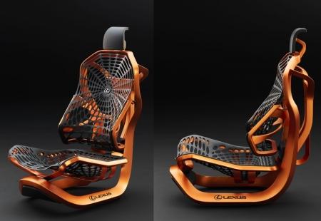 В Lexus изобрели «кинетические» кресла со структурой паутины