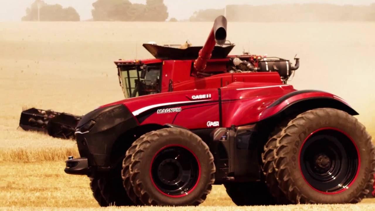 Видео: автономный трактор Case IH самостоятельно возделывает поля