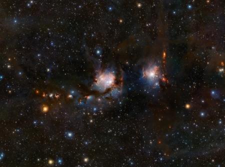 Фото дня: «скрытные» звёзды туманности Messier 78