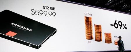 Samsung пообещала сравнять цены SSD и HDD