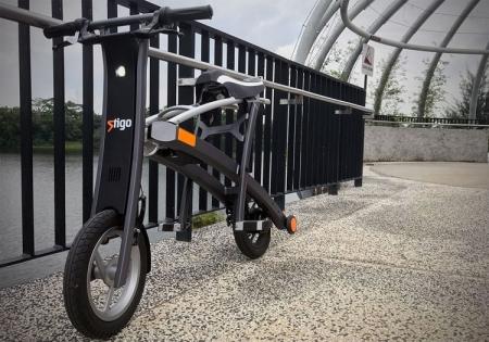 Stigo L1e: складной электрический скутер с запасом хода до 30 км