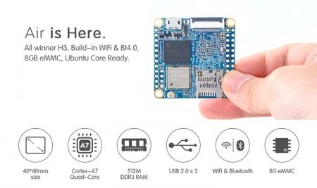 NanoPi NEO AIR: крошечный одноплатный компьютер с Wi-Fi и Bluetooth 4.0 LE