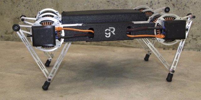 Робот Minitaur научился гарцевать по грязи и льду